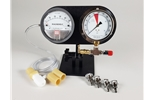 Dual Pro Stand, 5-0-5 Magnehelic, IP Gauge, Four SpinOn Adapters