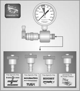 Pro Technician IP Gauge with 4 SpinOn Adapters