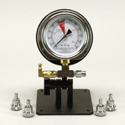 Single Pro Stand, 300 psi IP Gauge, Four SpinOn Adapters